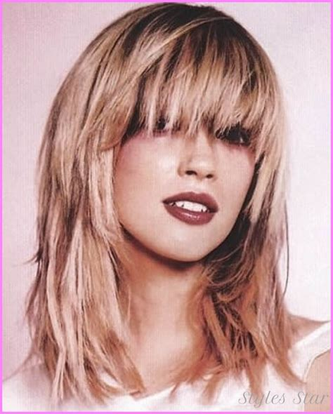 2015 long layers with bangs medium to long layered haircuts with bangs stylesstar com