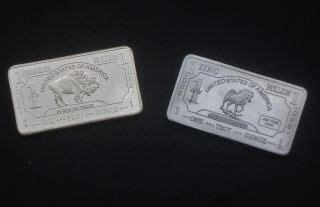 1 troy oz german silver bullion buffalo bar bullion price and value guide