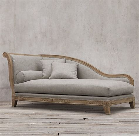 restoration hardware chaise traditional 19th c french empire fainting upholstered