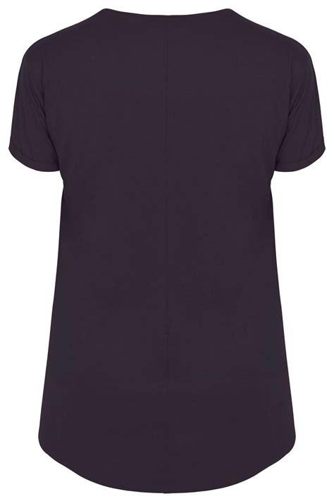 Tshirt Circle C3 t shirt violet ourlet arrondi taille 44 224 64