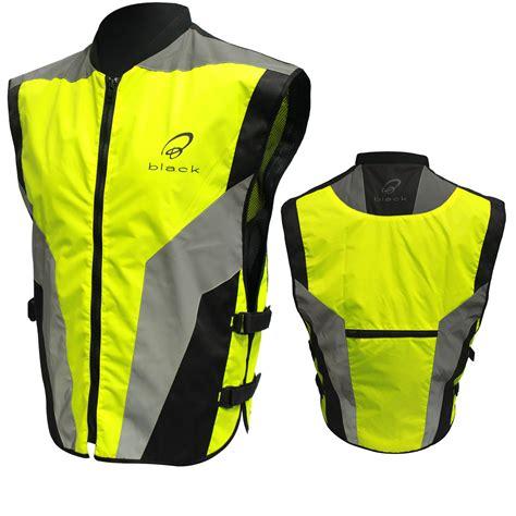 motorcycle jacket vest black hi vis reflective motorcycle vest motorbike