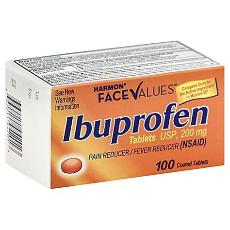 ibuprofen before bed harmon 174 face values orange ibuprofen 100 count 200 mg