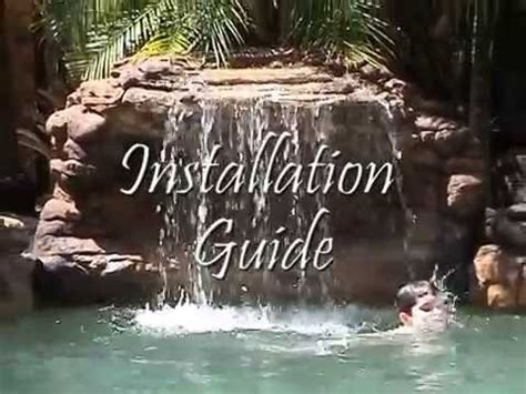 serenity pool waterfall installation youtube installing a swimming pool waterfall from universal rocks