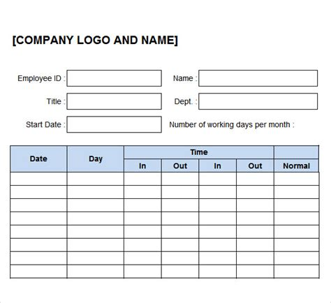 excel work log template time log template 10 documents in pdf word