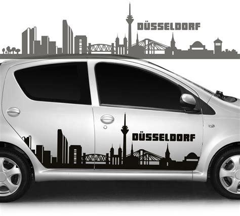 D Aufkleber Auto Kaufen by Autoaufkleber Autotattoo Skyline Stadt D 252 Sseldorf
