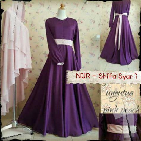Baju Gaun Dress Gamis Syari Ceruty Polos Murah Gracella desember 2015 galeri ayesha jual baju pesta modern syar i dan stylish untuk keluarga muslim