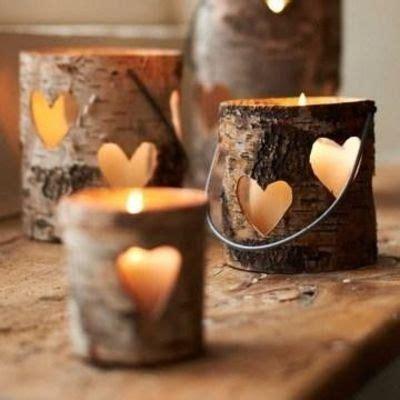 Home Decor Websites Uk by Birch Wood Heart Votive Amp Lantern Rustic Wedding Decor