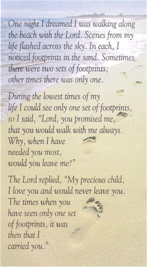 printable version of footprints poem footprints poem on pinterest