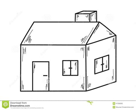 Old House Floor Plans by Sketch Of The Small House Stock Vector Image 41308262