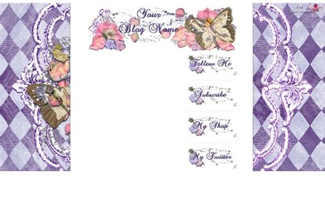theme blog cantik love lavender template background yang cantik