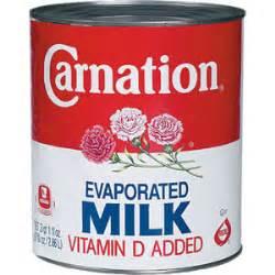 nutrition information milk condensed evaporated