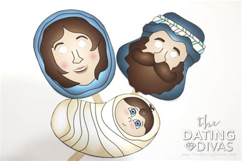 printable christmas masks printable nativity masks the dating divas