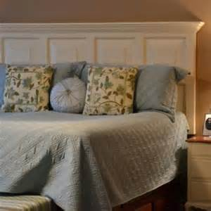 how to turn door to headboard diy headboard tip junkie