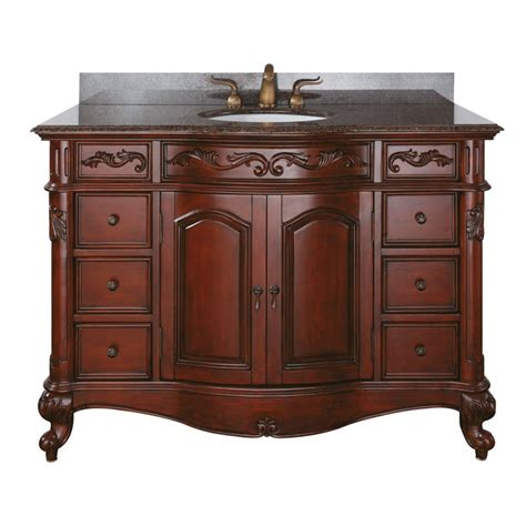 Antique Vanity by Provence Large 48 Antique Single Sink Bathroom Vanity By
