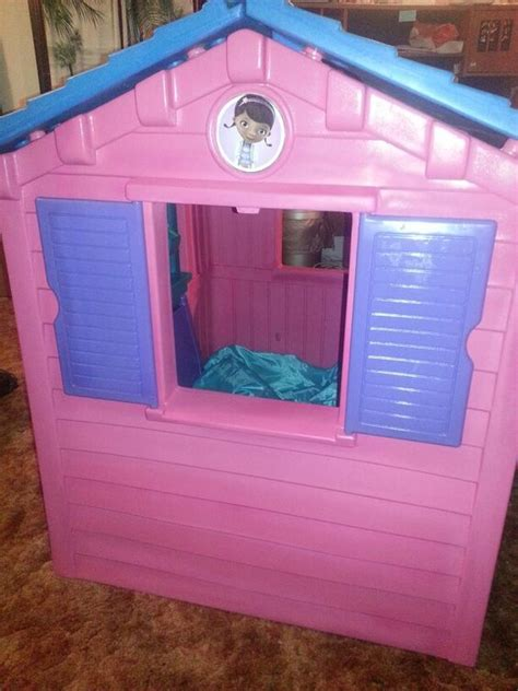 doc mcstuffins playhouse doc mcstuffins i painted old playhouse re paints