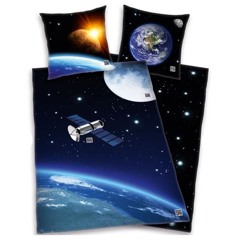 outer space satellite duvet cover new solar system bedding