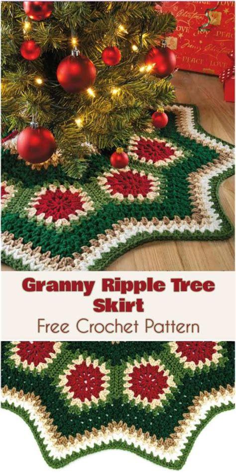 christmas ripples tree skirt pattern free christmas crochet patterns all the best ideas