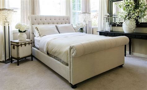 chesterfield bed chesterfield style fabric tufted bed club furniture