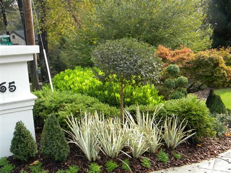 specialty plants from topiary courtyard featured in landscapes