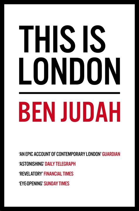 this is london book this is london by ben judah