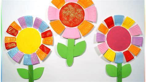 Bastelideen Blumen Kindergarten by Bunte Pappteller Blumen Zum Muttertag Basteln Mit