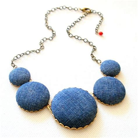Denim Necklace denim necklace as seen on the gap board