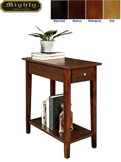 Small Side Table For Living Room Wooden Walnut One Drawer Living Room Small Side Table Taiwan