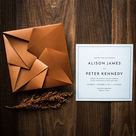 Origami Wedding Invitation - 20 event invitation designs to impress your guests