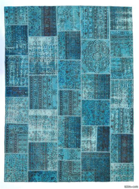 Overdyed Patchwork Rug - custom rugs overdyed vintage rugs and patchwork carpets