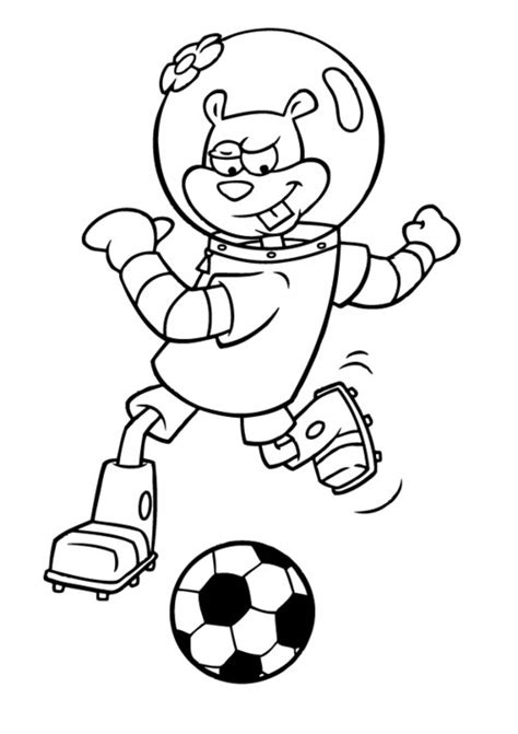 sandy cheeks free colouring pages