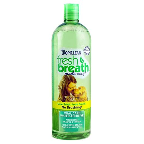how to freshen dogs breath tropiclean fresh breath water additive for dogs 16 oz naturalpetwarehouse