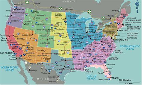 Faire Un Mba En Gratuit Aux Etats Unis by Carte Autoroutes Usa Etats Unis Guide De Voyage Usa