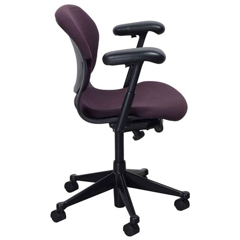Herman Miller Equa 2 Stool by Herman Miller Equa 2 Used Low Back Task Chair Plum