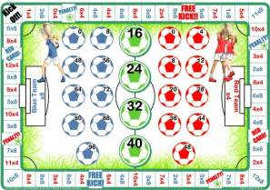 football 4 amp 8 times tables games let me learn