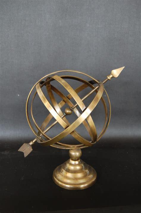 brushed brass armillary sphere arrow  savoy flea