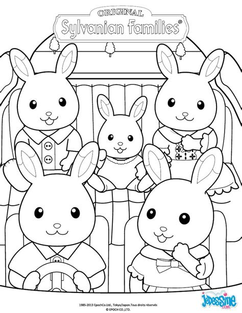 sylvanian families free colouring pages
