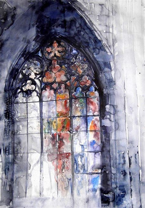 watercolor tutorial glass watercolor stained glass window lots of interesting