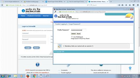 reset sbi online account password how to reset forgot online sbi login netbanking password