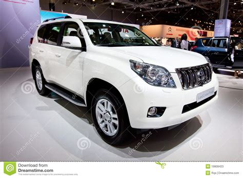 jeep car white white jeep car tayota land cruise prado editorial photo