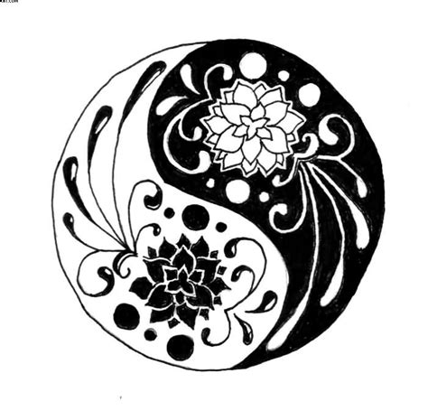 yin yang flower tattoo 33 lotus stencils designs