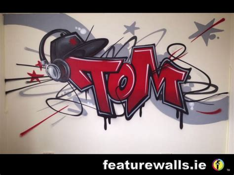 graffiti name on bedroom wall kids murals childrens rooms decorating kids rooms super