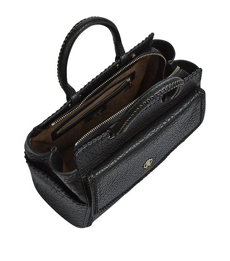 Roberto Cavalli Tote by Roberto Cavalli Textured Leather Tote Bag In Black Lyst