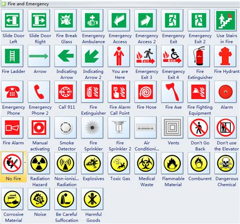 Lab Floor Plan by Use Free And Editable Symbols To Design Emergency Safety Signs