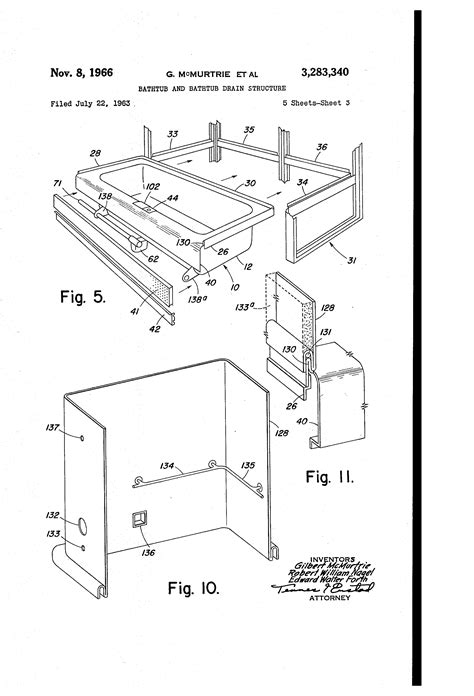 bathtub structure patent us3283340 bathtub and bathtub drain structure