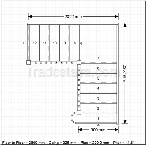 online staircase design stair layout with landing design quarter landing