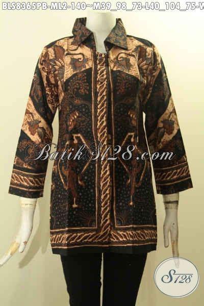 model baju batik wanita berkrah motif wayang srikandi