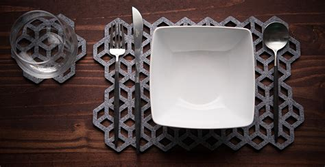 Laser Cut Wool Placemats By Alljoy Design