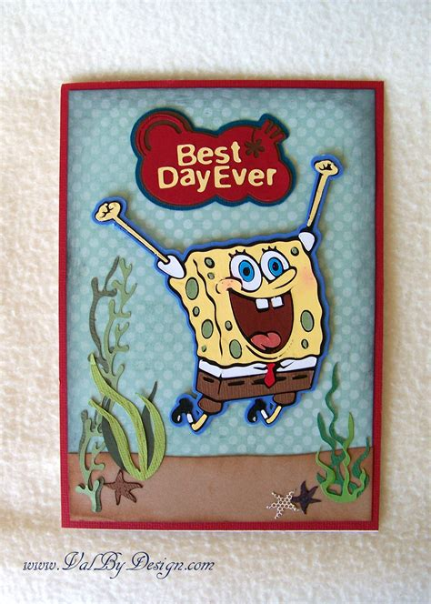 Spongebob Birthday Card Spongebob Squarepants Archives Valbydesign