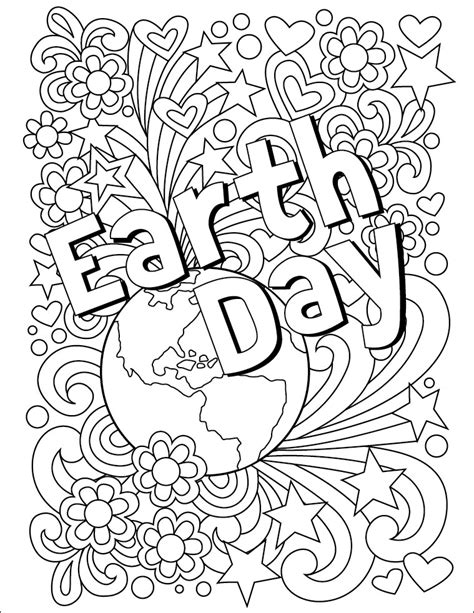 earth day coloring page art projects for kids bloglovin