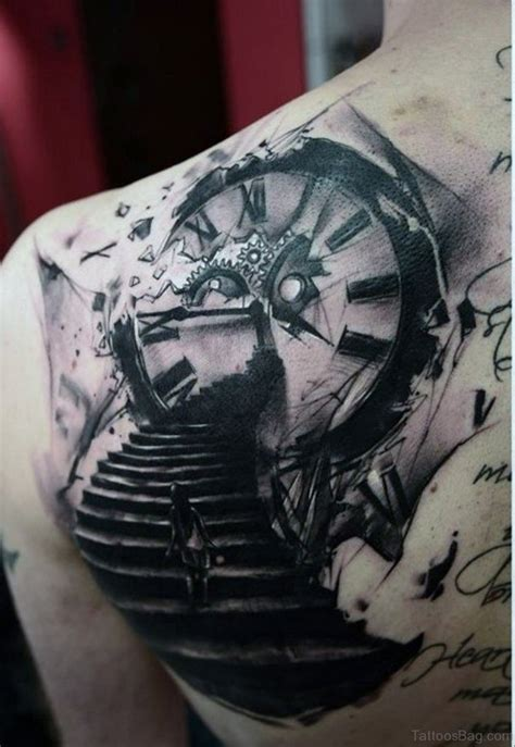 clock tattoos for men 41 fanciful clock tattoos on back